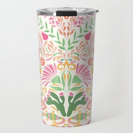 Tropical Pattern in Pink and Green Travel Mug