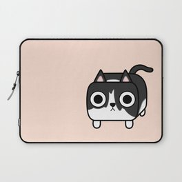 Cat Loaf - Tuxedo Kitty - Black and White Laptop Sleeve