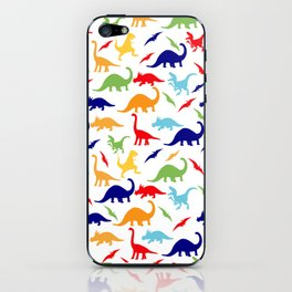 Colorful Dinosaurs Pattern iPhone Skin