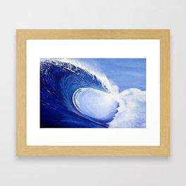 Ocean Wave Painting Framed Art Print