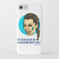 kardashian iPhone & iPod Cases featuring Ugly Cry: Kim Kardashian Edition.  by Amelia Jude