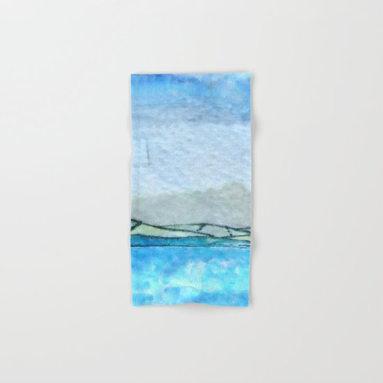 Landscape with fog and blue Hand & Bath Towel