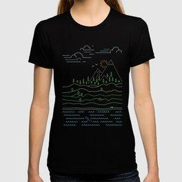 Outdoor solitude - line art T-shirt