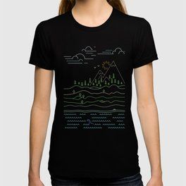 Outdoor solitude - line art T-shirt