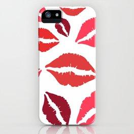 Kissing Lips Pattern Lip Kiss iPhone Case