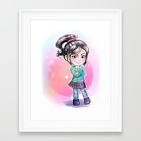 wreck it ralph Framed Art Prints featuring Vanellope - Wreck-it Ralph by Claire