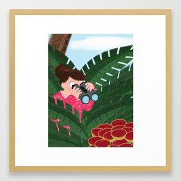 Jam Tarts In The Jungle Framed Art Print