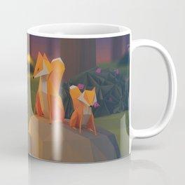 3D Fox on a Stone Coffee Mug