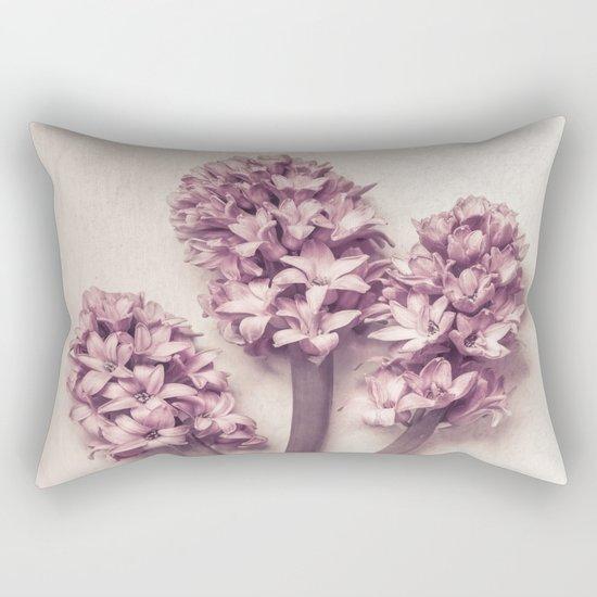 Three Pink Hyacinths Rectangular Pillow