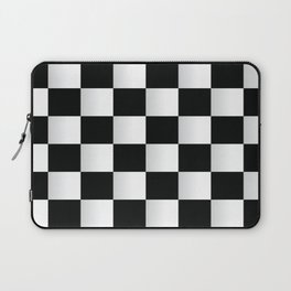 BLACK AND WHITE SQUARES Abstract Art Laptop Sleeve