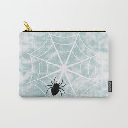 Spiderweb on a cloudy day Carry-All Pouch