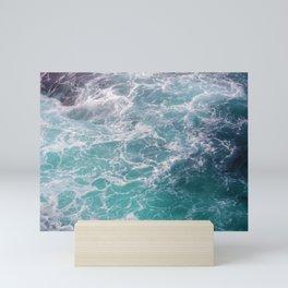 moving seawater Mini Art Print
