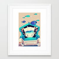 underwater Framed Art Prints featuring Underwater by Coralus