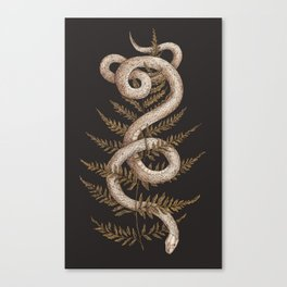 The Snake and Fern Canvas Print
