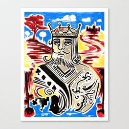 King Of Cards Canvas Print