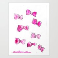 bows Art Prints featuring Bows  by BruiseViolet