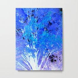 Blue Violet tree leaves Metal Print