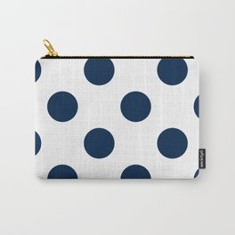 Large Polka Dots - Oxford Blue on White Carry-All Pouch