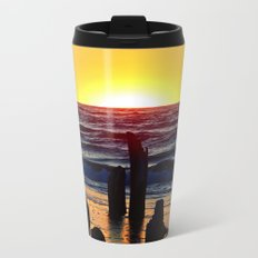 Silhouettes of the Past at Sunset Metal Travel Mug