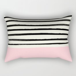 Millennial Pink x Stripes Rectangular Pillow