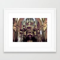 chandelier Framed Art Prints featuring Chandelier  by Jonathan Wright Productions