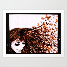 You Give Me Butterflies #2 Art Print