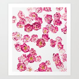 Pink Heaven #digitalart #floral Art Print