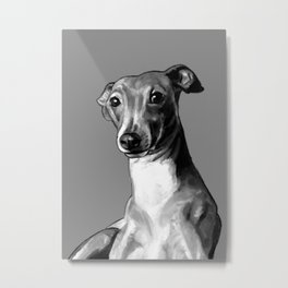 Graham, the Greyhound Metal Print