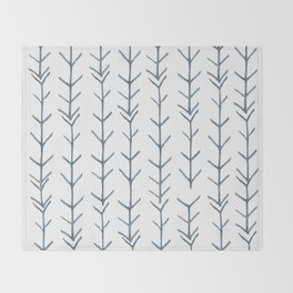 Twigs and branches freeform gray Throw Blanket