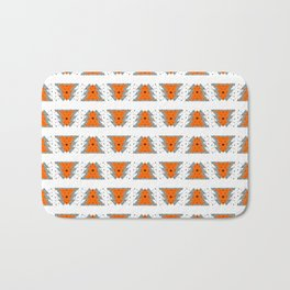 Winter Trees with Snowflakes Bath Mat
