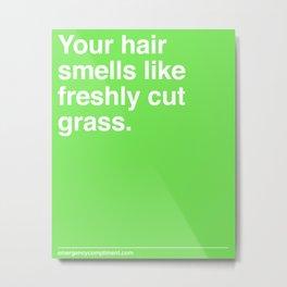 Freshly Cut Grass Metal Print