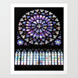 Window of Notre Dame. Art Print