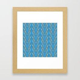 Aqua Wheat Grass Framed Art Print