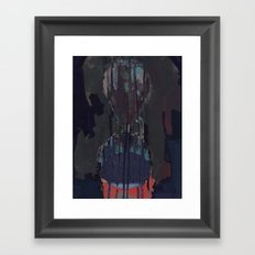 and i hurt and i hurt and the damage is done Framed Art Print