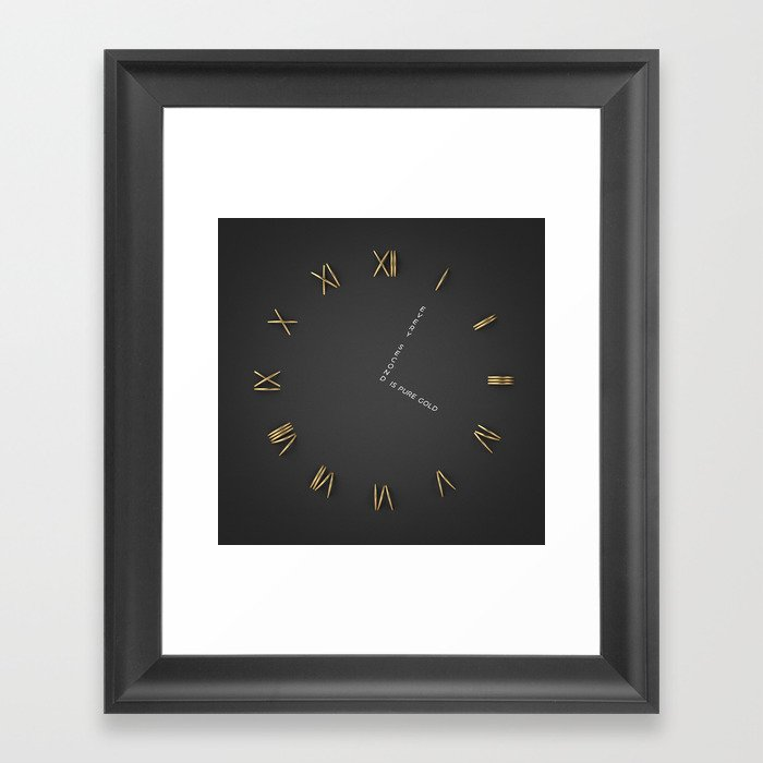 Time is Gold Gerahmter Kunstdruck
