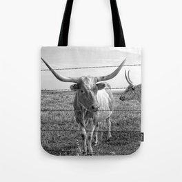 Longhorn Cows Tote Bag