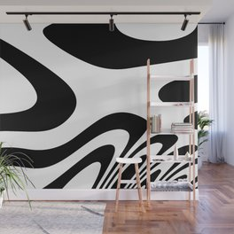 Black and White Zebra Abstract Marble Pattern Design  Wall Mural
