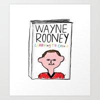 Wayne Rooney's autobiography Art Print