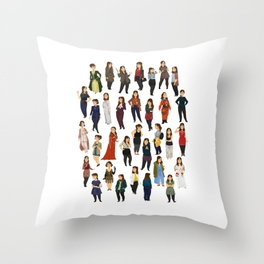 Every Clara Outfit Ever | S8 Throw Pillow