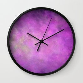 Abstract Soft Watercolor Gradient Ombre Blend 5 Light and Dark Purple Wall Clock