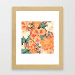 Aloha Orange Sherbet Framed Art Print