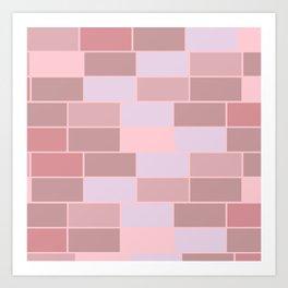 Bricks wall Art Print