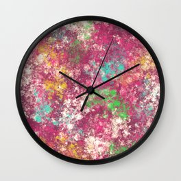 Colorful Lost Place Wall Clock
