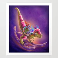 warcraft Art Prints featuring Raptor Swing - Warcraft by Heartmedia