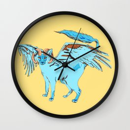 Cat Dragon Wall Clock