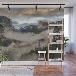 Yosemite Clouds And Fog Wall Mural