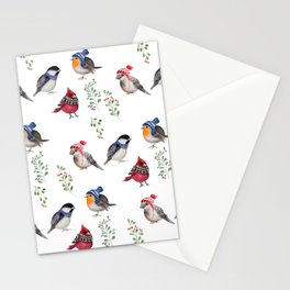 Birds of a Christmas feather Stationery Cards