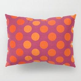 """Warm Burlap Texture & Polka Dots"" Pillow Sham"