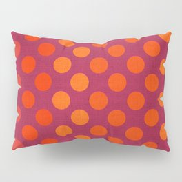 """Warm Burlap Texture & Polka Dots"" Pillow Sham"