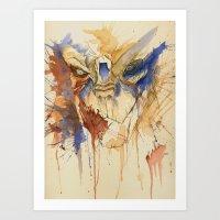 garrus Art Prints featuring Garrus Vakarian by CuriousCanvas
